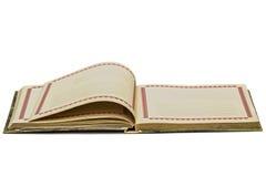 Abra o caderno velho, isolado no fundo branco Imagens de Stock