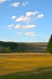 Abra o campo e o céu desobstruído Foto de Stock Royalty Free