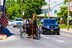 Abra o carrinho de Amish em Strasburg Imagem de Stock