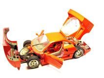 Abra o carro desportivo vermelho imagem de stock