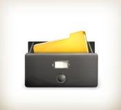 Abra o catálogo de cartão, preto ilustração do vetor