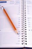 Abra o diário com lápis Imagem de Stock Royalty Free