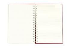 Abra o diário no fundo branco - com trajeto de grampeamento Imagem de Stock Royalty Free