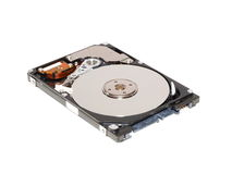 Abra o disco duro de SATA para o caderno Fotos de Stock Royalty Free