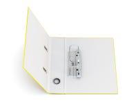 Abra o dobrador do escritório com os anéis do metal isolados no fundo branco Fotos de Stock