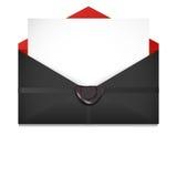 Abra o envelope Cera de selagem ilustração stock