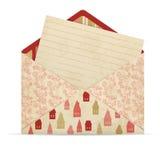 Abra o envelope com letra ilustração stock