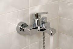 Abra o faucet do chuveiro Imagem de Stock Royalty Free