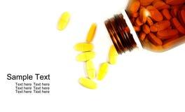Abra o frasco de comprimido com medicina Imagem de Stock Royalty Free