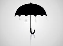 Abra o guarda-chuva preto Fotografia de Stock Royalty Free