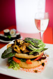 Abra o hamburguer Foto de Stock Royalty Free