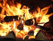 Abra o incêndio Imagens de Stock