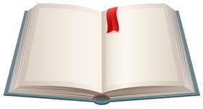 Abra o livro com folhas vazias e o marcador vermelho Fotografia de Stock Royalty Free