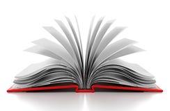 Abra o livro com white pages em branco ilustração 3D Imagens de Stock Royalty Free