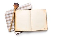Abra o livro da receita Fotografia de Stock