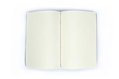Abra o livro de nota vazio Imagens de Stock Royalty Free