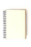 Abra o livro de nota vazio Foto de Stock