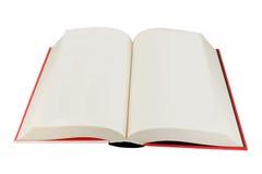 Abra o livro do livro encadernado Imagem de Stock Royalty Free