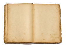 Abra o livro do vintage no fundo branco Imagem de Stock