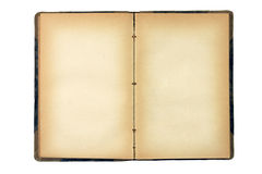 Abra o livro em branco velho Imagens de Stock Royalty Free