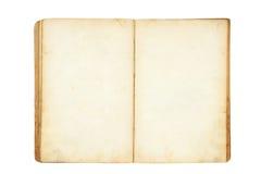 Abra o livro em branco velho foto de stock royalty free