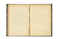 Abra o livro em branco velho Fotografia de Stock