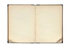 Abra o livro em branco velho Fotos de Stock