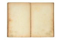 Abra o livro em branco velho Imagem de Stock