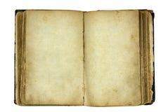 Abra o livro em branco velho Imagem de Stock Royalty Free