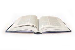 Abra o livro em um fundo branco Fotos de Stock