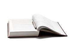 Abra o livro isolado Foto de Stock Royalty Free