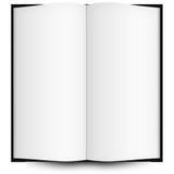 Abra o livro isolado no branco Fotos de Stock Royalty Free