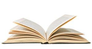 Abra o livro isolado no fundo branco imagens de stock royalty free
