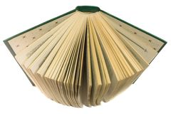 Abra o livro isolado no fundo branco Foto de Stock