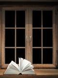 Abra o livro na soleira Foto de Stock