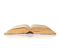 Abra o livro no branco fotografia de stock royalty free