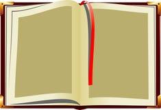 Abra o livro velho ilustração stock
