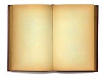Abra o livro velho no fundo branco Imagens de Stock