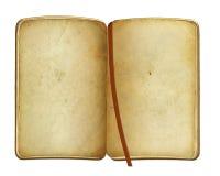 Abra o livro velho no fundo isolado Imagens de Stock