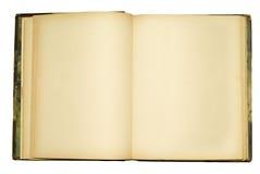 Abra o livro velho vazio Fotografia de Stock