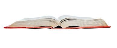 Abra o livro vermelho Imagens de Stock