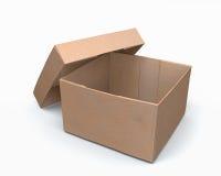 Abra o modelo da caixa de papel 3d Imagem de Stock Royalty Free