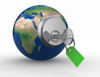Abra o mundo Imagens de Stock Royalty Free