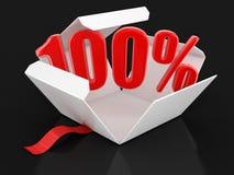 Abra o pacote com 100% Imagens de Stock Royalty Free