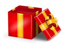 Abra o presente vermelho Fotografia de Stock Royalty Free