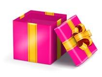 Abra o presente vermelho Fotos de Stock Royalty Free