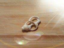 Abra o shell com luz foto de stock