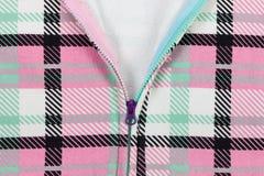 Abra o zíper no pano colorido velho Imagem de Stock Royalty Free