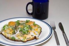 Abra a omeleta Imagens de Stock Royalty Free