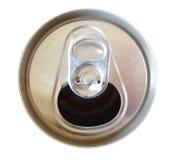 Abra a parte superior da lata de soda Fotografia de Stock Royalty Free